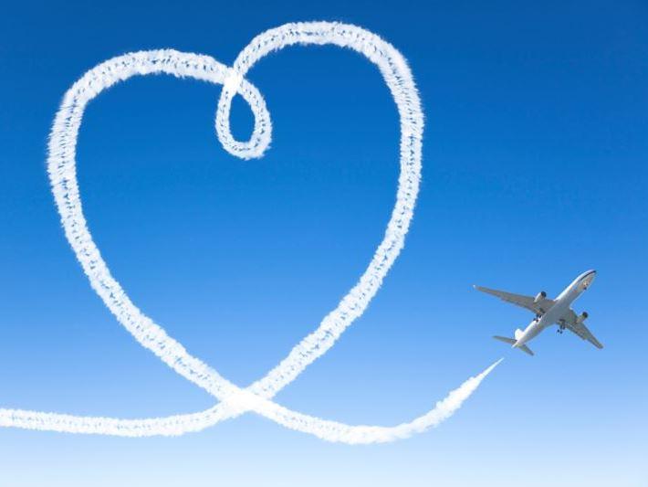távolság, szív, repülő, szerelem