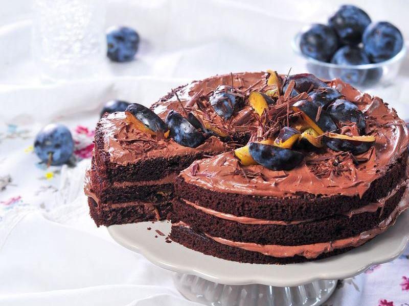 szilva, csoki, torta