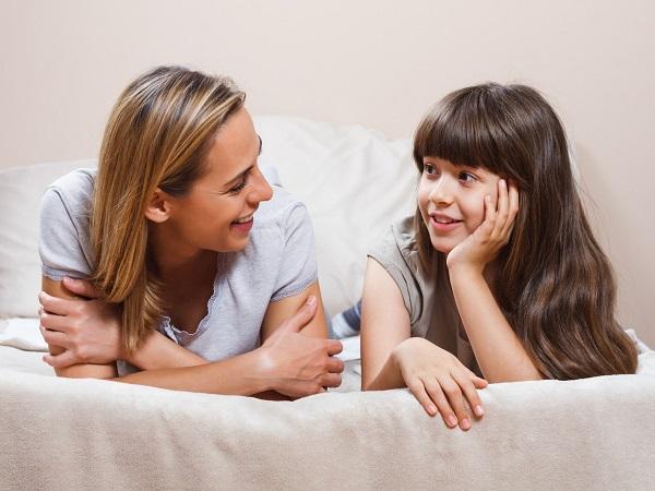 beszélgetés a gyerekkel