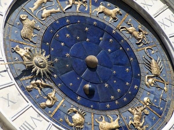 Zodiacal wall clock