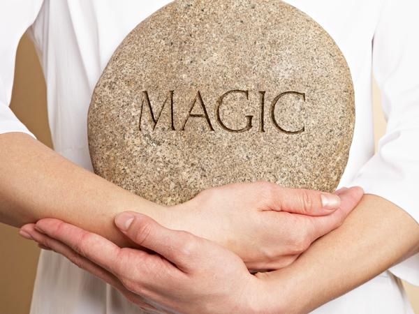 Woman Holding Magic Stone