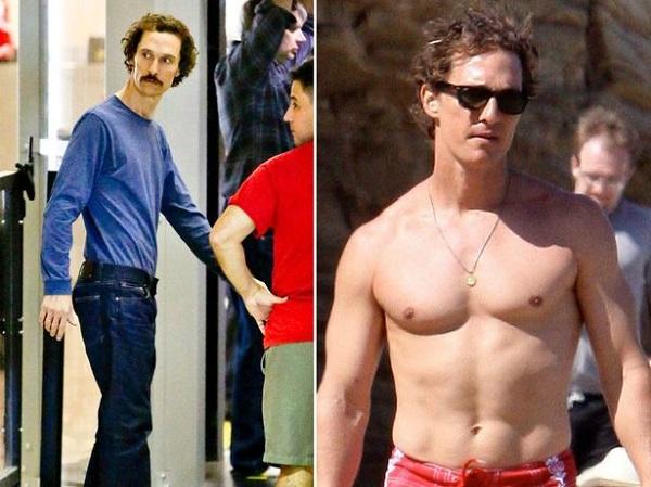 Matthew McConaughey 9 kg-t dobott le azzal, hogy napokig csak kólát, tojás fehérjét és csirkét evett. A diéta az AIDS-es beteg Ron Woodroof szerepe miatt kellet a Mielőtt meghaltam (2013.) című filmben.