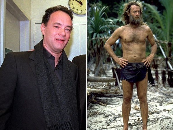Tom Hanks 22 kg-t fogyott a Számkivetett (2000.) címszerepe miatt.