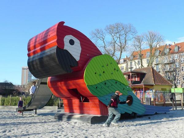 játszótér-papagáj-koppenhága
