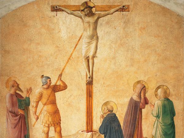 Fra Angelico, Gekreuzigter mit Longinus