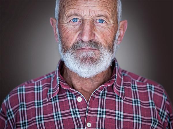 Friendly looking older man
