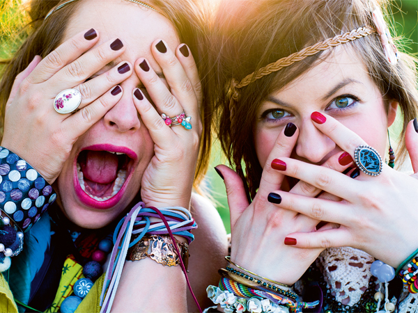 Festival people, facial expression