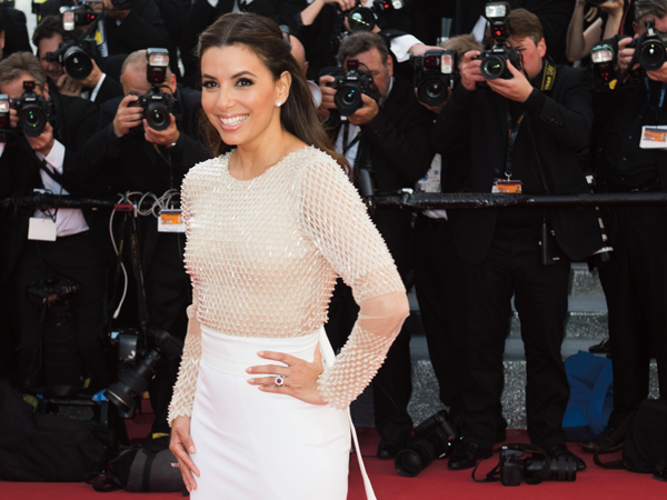 "CANNES, FRANCE - MAY 11: Eva Longoria attends the screening of ""Cafe Society"" at the opening gala of the annual 69th Cannes Film Festival at Palais des Festivals on May 11, 2016 in Cannes, France. (Photo by Samir Hussein/WireImage)"