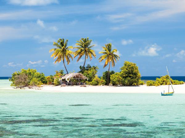 Maldives wild small island