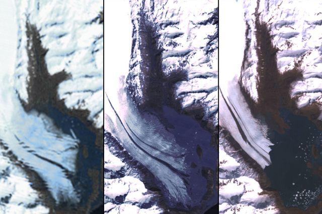 zsugorodó gleccser