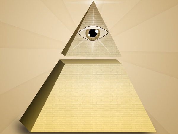 33543168 - eye of providence in pyramid