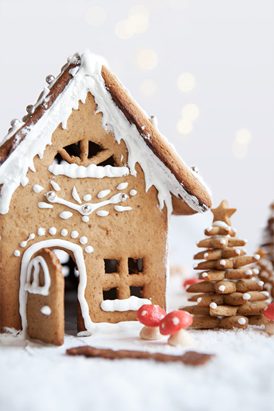 karácsonyfás-méziház