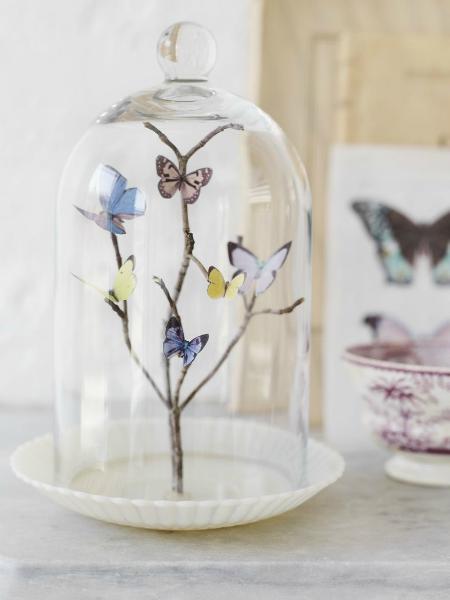 pillangó-üvegdísz