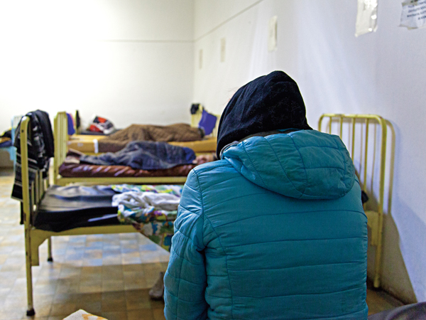 hajléktalan nők