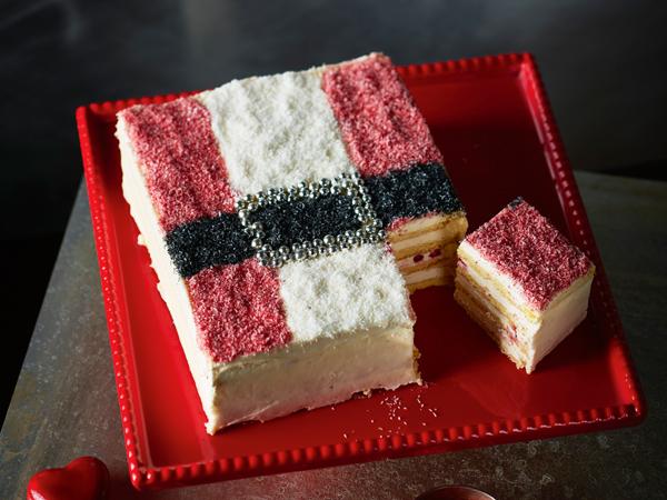 Mikulásruha torta